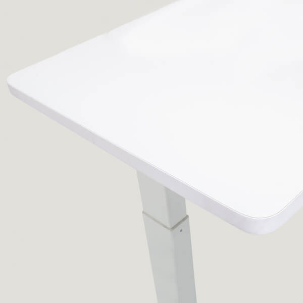 Closeup on White Tabletop for Stance Executive Electric Desk